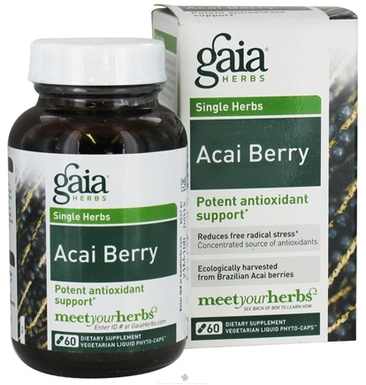 DROPPED: Gaia Herbs - Acai Berry Concentrated Antioxidant Support - 60 Vegetarian Capsules