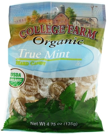 DROPPED: College Farm Organic - True Mint Hard Candy - 4.75 oz.