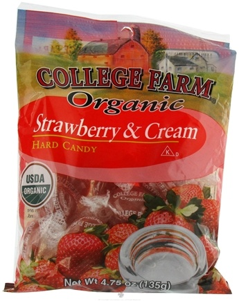 DROPPED: College Farm Organic - Hard Candy Strawberry and Cream - 4.75 oz.