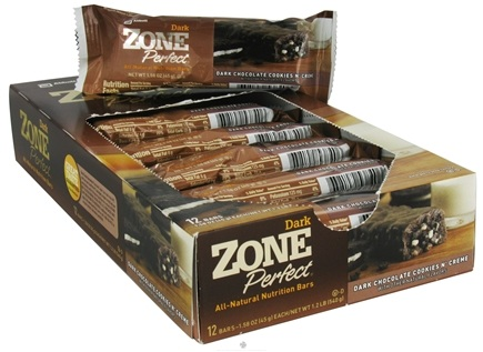 DROPPED: Zone Perfect - All-Natural Nutrition Bar Dark Chocolate Cookies N' Creme - 1.58 oz.