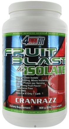 DROPPED: 4Ever Fit - Fruit Blast Whey Protein Isolate CranRazz - 2 lbs. CLEARANCE PRICED