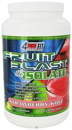 DROPPED: 4Ever Fit - Fruit Blast Whey Protein Isolate Strawberry Kiwi - 2 lbs. CLEARANCE PRICED