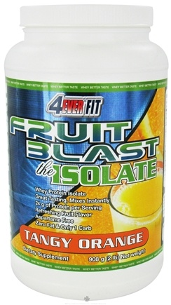 DROPPED: 4Ever Fit - Fruit Blast Whey Protein Isolate Tangy Orange - 2 lbs. CLEARANCE PRICED