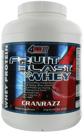 DROPPED: 4Ever Fit - Fruit Blast Whey Protein CranRazz - 4.4 lbs.