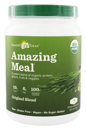 Amazing Grass - Amazing Meal Powder 15 Servings Original Blend - 11.8 oz.