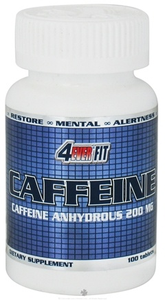 DROPPED: 4Ever Fit - Caffeine Pharmaceutical Grade 200 mg. - 100 Tablets Formerly Anhydrous