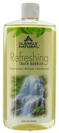 DROPPED: Clearly Natural - Bath Bubbles Refreshing - 16 oz. CLEARANCE PRICED