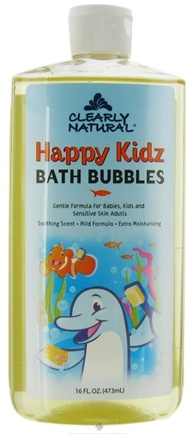 DROPPED: Clearly Natural - Bath Bubbles Happy Kidz - 16 oz. CLEARANCE PRICED