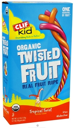 DROPPED: Clif Bar - Kid Organic Twisted Fruit Rope Tropical Twist - 6 Pack