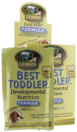 DROPPED: Genesis Organics - Best Toddler Developmental Nutrition Goat Milk Formula Chocolate - 1 Packet