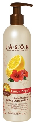 DROPPED: Jason Natural Products - Hand & Body Lotion Lemon Zinger - 12 oz.