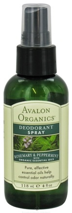 DROPPED: Avalon Organics - Deodorant Spray with Organic Essential Oils Rosemary & Peppermint - 4 oz.