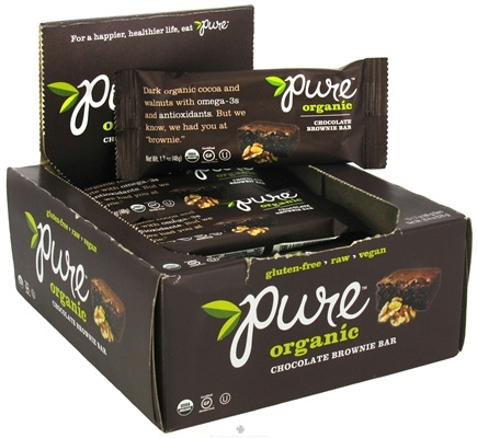 DROPPED: PureBar - Pure Organic Bar Chocolate Brownie - 1.7 oz. CLEARANCE PRICED