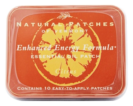 Natural Patches of Vermont - Enhanced Energy Formula Essential Oil Body Patches Citrus - 10 Patch(es) Formerly Naturopatch