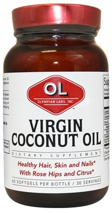 DROPPED: Olympian Labs - Virgin Coconut Oil 1000 mg. - 60 Softgels