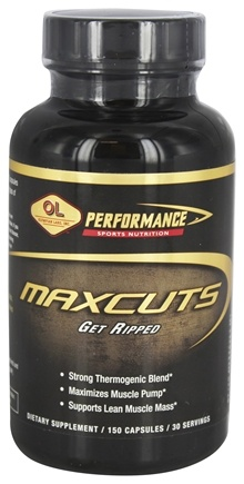 DROPPED: Olympian Labs - MaxCuts Get Ripped - 150 Capsules Formerly MaxCuts Ultimate Pump/Ripping Formula