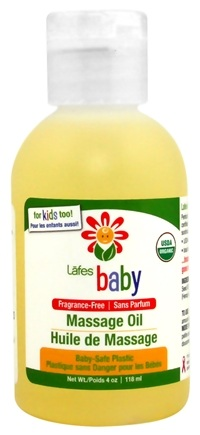 DROPPED: Lafes - Natural And Organic Baby Oil - 4 oz. CLEARANCED PRICED
