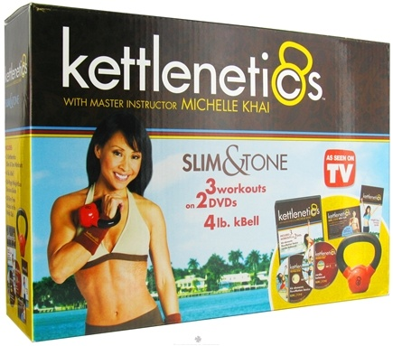DROPPED: Gaiam - Kettlenetics Slim and Tone Kit With Instructor Michelle Khai - CLEARANCE PRICED