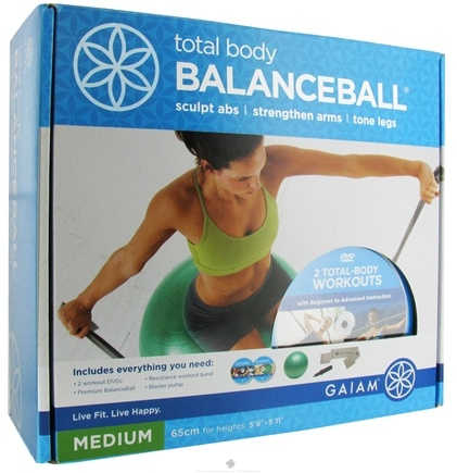 DROPPED: Gaiam - Total Body Balance Ball Medium - 65 cm. CLEARANCE PRICED