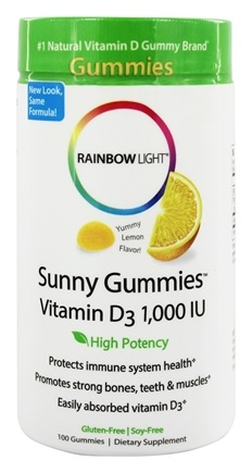 Rainbow Light - Vitamin D Sunny Gummies Sour Lemon 1000 IU - 100 Gummies