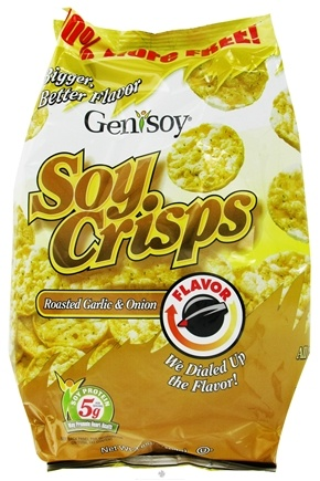 DROPPED: Genisoy - Soy Crisps Naturally Flavored Roasted Garlic & Onion - 3.85 oz.