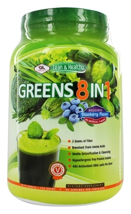 Olympian Labs - Greens Protein 8 in 1 Delicious Blueberry Flavor - 775 Grams