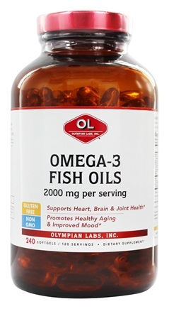 Olympian Labs - Omega-3 Fish Oils From Cold Water Fish Super Size 1000 mg. - 240 Softgels