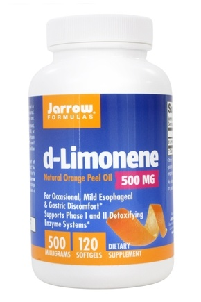 Jarrow Formulas - d-Limonene Food Grade Orange Peel Oil 1000 mg. - 60 Softgels