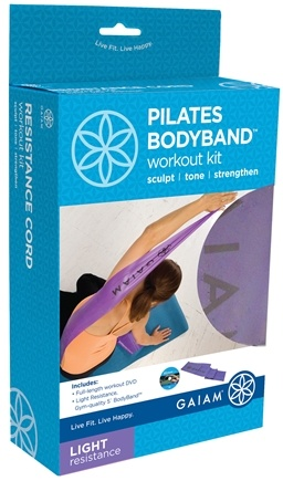 DROPPED: Gaiam - Pilates Bodyband Workout Kit- Light Resistance-Purple - CLEARANCE PRICED