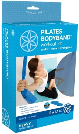 DROPPED: Gaiam - Pilates BodyBand Workout Kit- Heavy Resistance- Blue - CLEARANCE PRICED