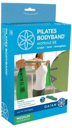 DROPPED: Gaiam - Pilates Bodyband Workout Kit- Medium- Green - CLEARANCE PRICED