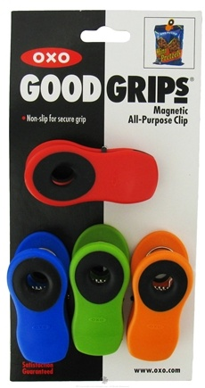 DROPPED: OXO - Good Grips Magnetic All-Purpose Clips - 4 Pack(s) CLEARANCE PRICED