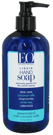 DROPPED: EO Products - Liquid Hand Soap Unscented with Coconut Milk - 12 oz.