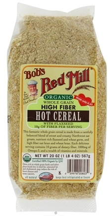DROPPED: Bob's Red Mill - Hot Cereal Organic Whole Grain High Fiber With Flaxseed - 20 oz. CLEARANCE PRICED