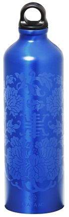 DROPPED: Gaiam - Lapis Medallion Aluminum Water Bottle - 750 ml.