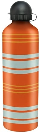 DROPPED: Gaiam - Orange Stripe Aluminum Water Bottle - 750 ml. WINTER SPECIAL