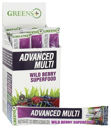 Greens Plus - Advanced Multi Stick Pack Box Wild Berry Superfood - 15 Stick(s)
