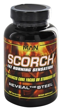 DROPPED: MAN Sports - Scorch Ultimate Fat-Burning Sensation with Raspberry Ketones - 168 Capsules CLEARANCE PRICED