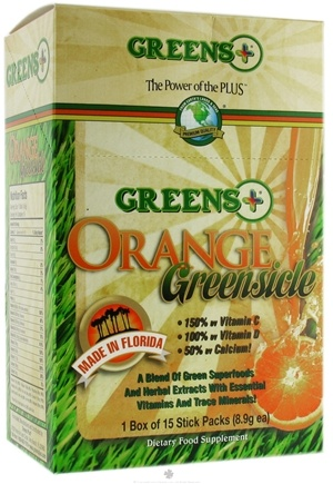 DROPPED: Greens Plus - Orange Greensicle Stick Packs Box - 15 Stick(s) CLEARANCE PRICED