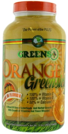 DROPPED: Greens Plus - Orange Greensicle Powder - 9.4 oz. CLEARANCE PRICED