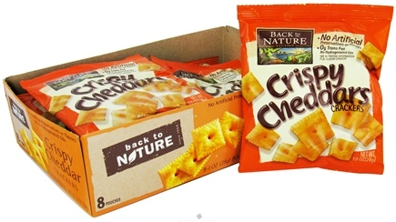 DROPPED: Back To Nature - Crackers Crispy Cheddar - 8 Pack CLEARANCE PRICED