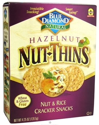 DROPPED: Blue Diamond Growers - Hazelnut Nut-Thins Nut & Rice Cracker Snacks - 4.25 oz.