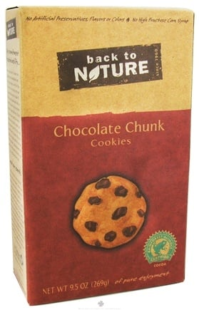 DROPPED: Back To Nature - Cookies Chocolate Chunk - 9.5 oz.