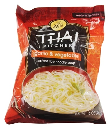 Thai Kitchen - Instant Rice Noodle Soup Garlic and Vegetable - 1.6 oz.