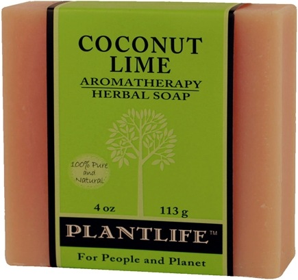 DROPPED: Plantlife Natural Body Care - Aromatherapy Herbal Soap Coconut Lime - 4 oz. CLEARANCE PRICED