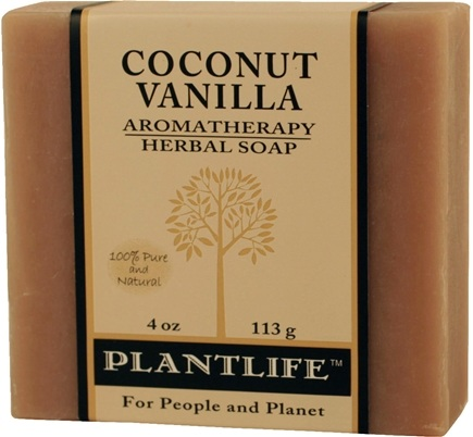 DROPPED: Plantlife Natural Body Care - Aromatherapy Herbal Soap Coconut Vanilla - 4 oz. CLEARANCE PRICED