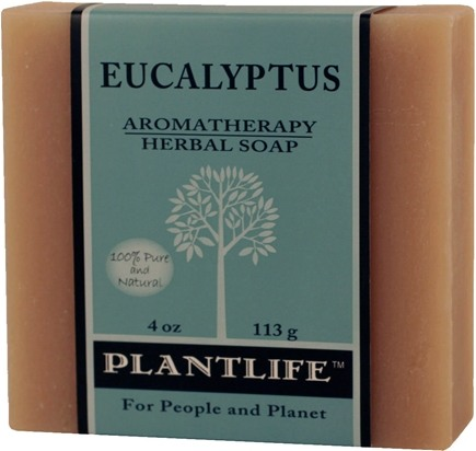 DROPPED: Plantlife Natural Body Care - Aromatherapy Herbal Soap Eucalyptus - 4 oz. CLEARANCE PRICED