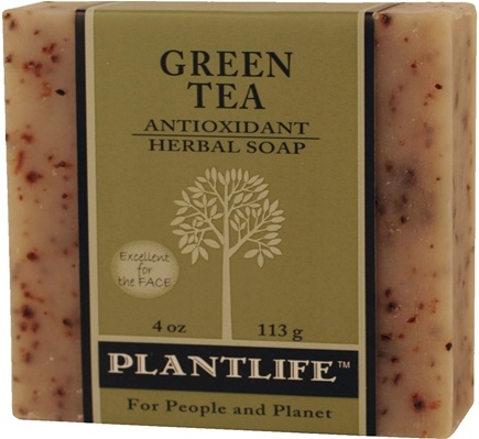 DROPPED: Plantlife Natural Body Care - Aromatherapy Herbal Soap Green Tea - 4 oz. CLEARANCE PRICED