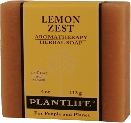 DROPPED: Plantlife Natural Body Care - Aromatherapy Herbal Soap Lemon Zest - 4 oz. CLEARANCE PRICED