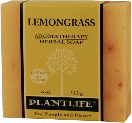 DROPPED: Plantlife Natural Body Care - Aromatherapy Herbal Soap Lemongrass - 4 oz. CLEARANCE PRICED